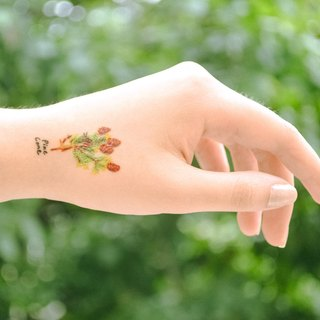Pine temporary tattoo buy 3 get 1 Floral tattoo party wedding decoration gift