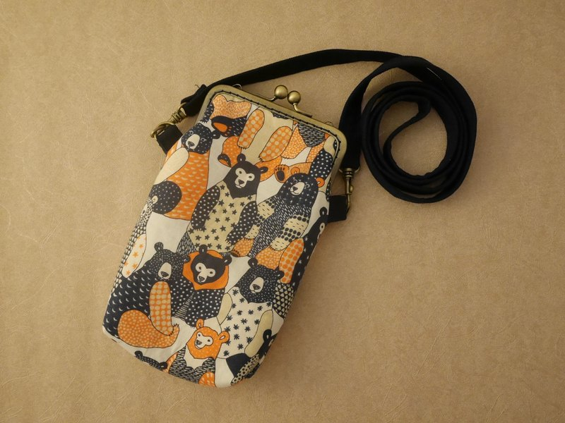 Ukiyo-e Bear Mobile Phone Bag