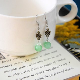 Classical Beauty Green Gemstones Handmade Earrings