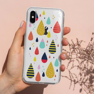 Colorful Raindrop Clear TPU  Phone Case Cover for iphone  X 6 7+ 8  Plus S9 S9+