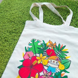Flower big nose summer tail canvas bag :)