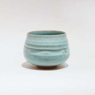 Hand-made glazed mixed clinker tea bowl
