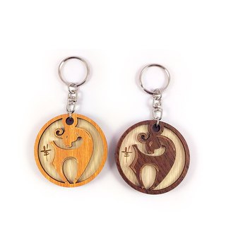 Woodcarving Keyring - 12 Zodiac (Sheep)