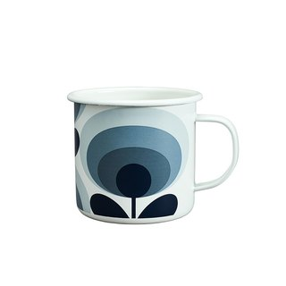 British import Wild & Wolf and Orla Kiely jointly designed 珐琅 mug (slate color flower)