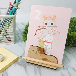 PONMiO-2018 illustration desk calendar