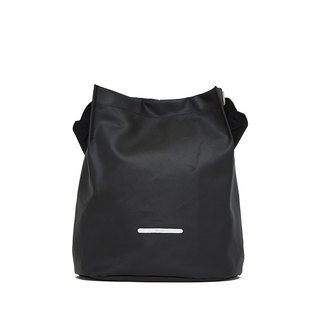 City Series - Double Strap Canvas Bucket Bag (Medium) - Ink Black - RCR700BK