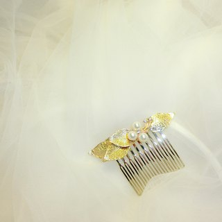 Wearing a happy pearl harbor series - bridal hair comb. French comb. Self-service wedding - minor
