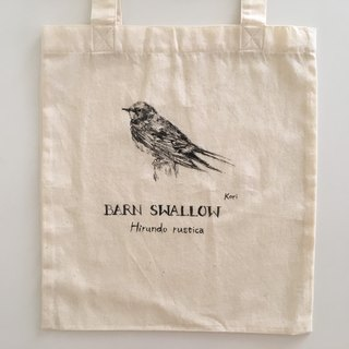 Pure hand-painted bird cotton shopping bag ‧ swallow (exclusive order)