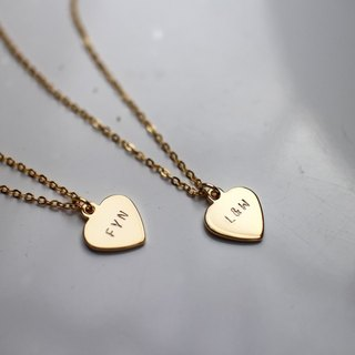 Stamping Heart Charm Necklace