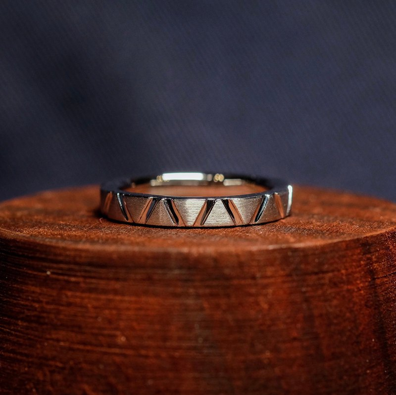 2019-Pair Ring-Triangle-Small Section-925 Silver Ring