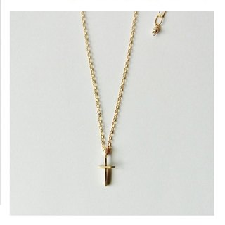 Mini cross necklace 14KGF
