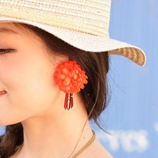Pre-order in the South American style flower earrings 3 color CSOZ8109