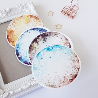 Planet scatter moon transparent sticker