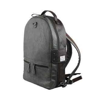 AMINAH-Grey double-sided leather backpack [am-0307]