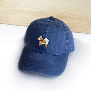 [Q-cute] hat series - Shiba Inu vintage wind baseball cap