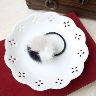 Plush velvet three-color hair ring