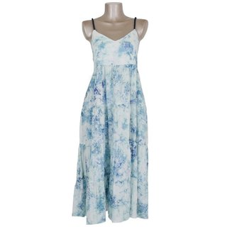 Uneven dyed Tiered One Piece Dress <Ice Blue>