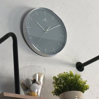 Dodeka- Collection Metal Silent Clock Wall Clock (Gray)
