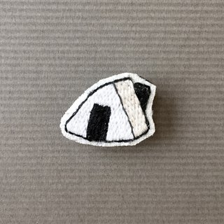 Mini Hand Embroidery Brooch / Pin Triangle Rice Ball