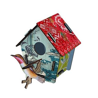 SUSS-Italian MIHO imported gorgeous wooden design bird house ornaments (CASAS-37) (small) spot