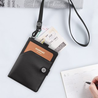 <Gift Box Pen + Lanyard> LUSTRE Passport Clip - Ink Black