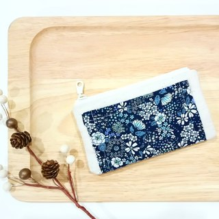 [FXS/ Four Degree Space Coin Purse] Country Flower Sea. Bubble cloth. Blue