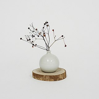 Handmade Ceramic Mini Vase - High White