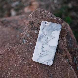 Original Imitated  White 3 Marble Phone case (iPhone model) with hard shell back case