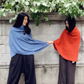 [Tip cloth for winter clothes] original design three-color cashmere wool shawl sweater