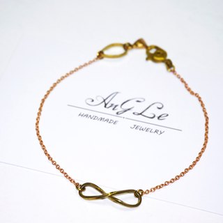 ❡ unlimited ∞ brass bracelet