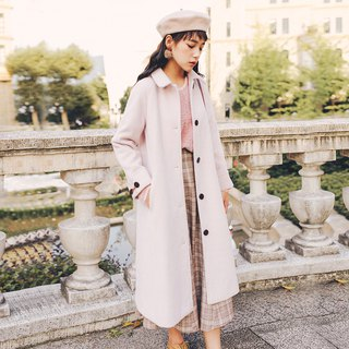 2018 autumn and winter women's new A-type raglan sleeve long coat