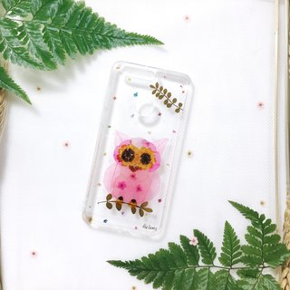 猫头鹰出没 • Handpressed Flower Phone Case