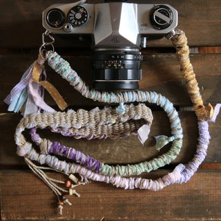 Rip cloth hemp string hemp camera strap # 6 (double ring)