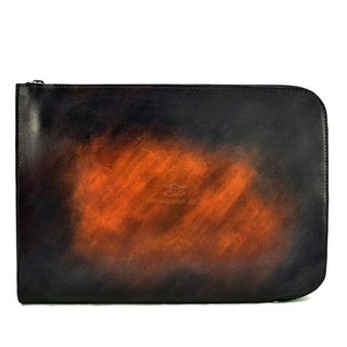 ACROMO Brown Zip Around Clutch Bag