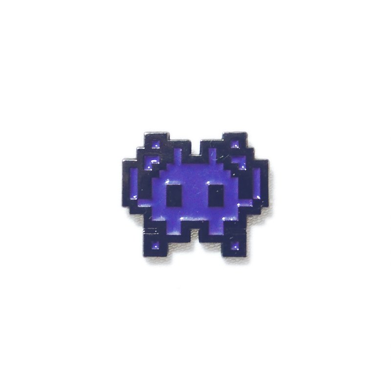 Space Invader Emoji Pin