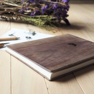 Notebook / Walnut Solid Wood Sketch Book / Thief Cat
