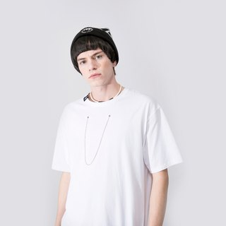 UNISEX NECKLACE T SHIRT / White