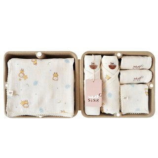 [SISSO Organic Cotton] Cloud Feifei Shumian Gauze 7 Piece Gift Box 3M