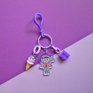 Purple Department / / Shantou squid burning - fructose hand made charm / key ring