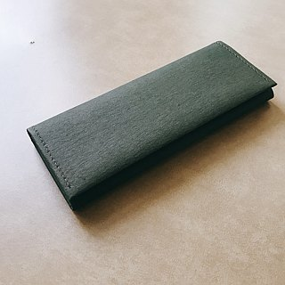 - Washed paper long clip / olive green * new color