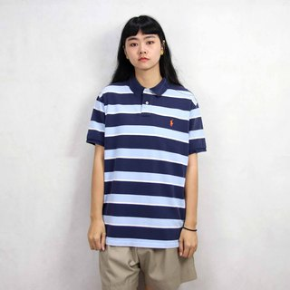 Tsubasa.Y Ancient House 015 Water Blue Stripe Ralph Lauren POLO Shirt, Vintage Vintage