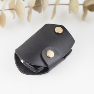 Car key set leather handmade black