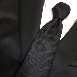 black herringbone regimental tie necktie
