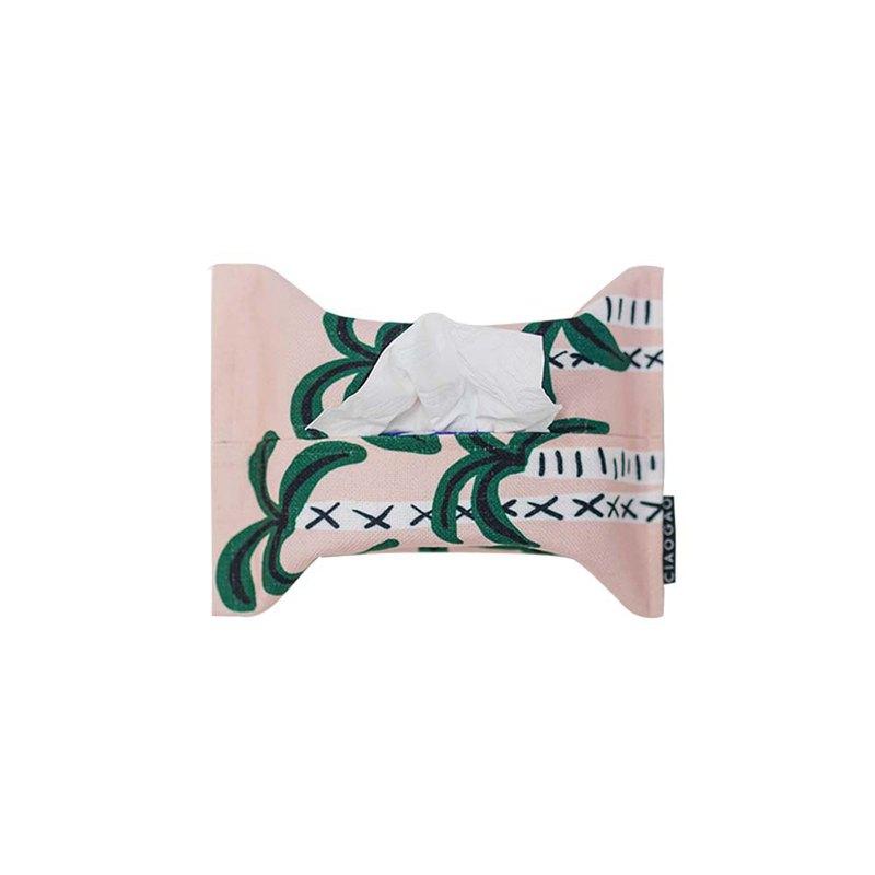 【草稿/ciaogao】原創設計少女粉 百搭民宿 熱帶椰林  混紡紙巾包