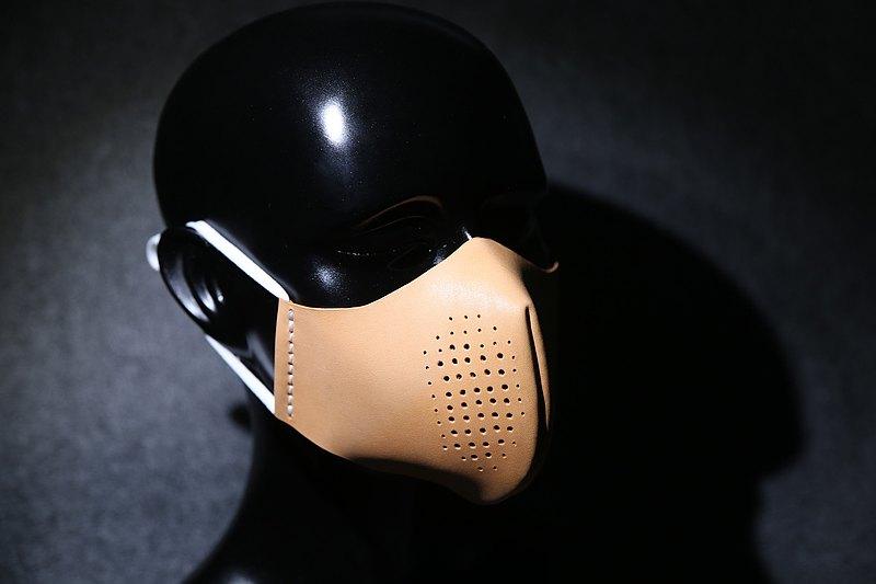 【切線派】纯手工真皮口罩防尘机车面罩 附纯棉内芯 可重复使用
