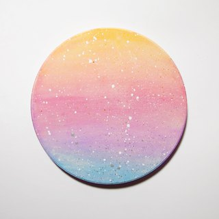 Starry Hand Painted Coaster / Pastel Gradient