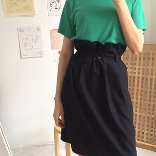 Licorice Skirt Deep blue waist buckle skirt (can be customized other colors)