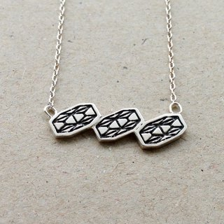 Mosaic Line II-02  925Silver Necklace
