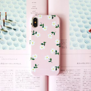 Warm powder tea flower phone case