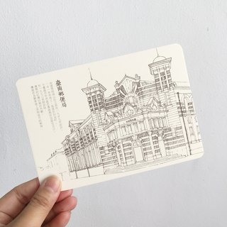 Tainan old building / postcard / color painting / Tainan post office